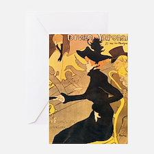 Divan Japonais by Toulouse-Lautrec Greeting Cards