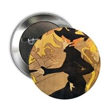 "Divan Japonais by Toulouse-Lautrec 2.25"" Button (1"