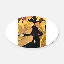 Divan Japonais by Toulouse-Lautrec Oval Car Magnet