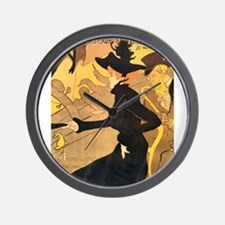 Divan Japonais by Toulouse-Lautrec Wall Clock