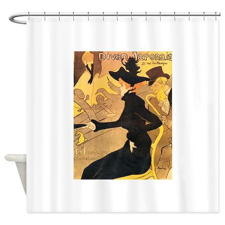 Divan japonais by toulouse lautrec shower curtain by admin for Divan japonais