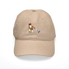 Shetland Sheepdog Curling Baseball Cap