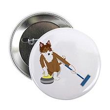 """Shetland Sheepdog Curling 2.25"""" Button"""