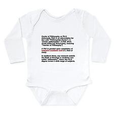 Unique Phd Long Sleeve Infant Bodysuit