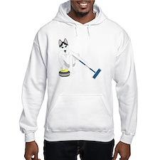 Siberian Husky Curling Hoodie