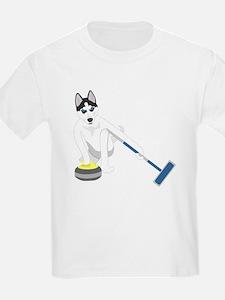 Siberian Husky Curling T-Shirt
