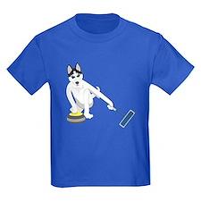 Siberian Husky Curling T