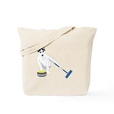 Siberian Husky Curling Tote Bag