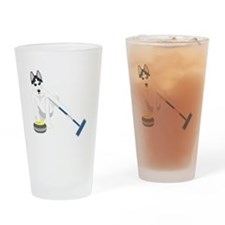 Siberian Husky Curling Drinking Glass
