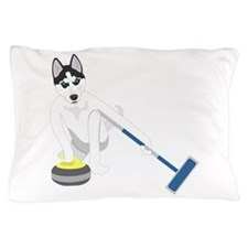 Siberian Husky Curling Pillow Case