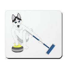 Siberian Husky Curling Mousepad