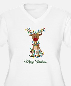 Merry Christmas Reindeer Plus Size T-Shirt