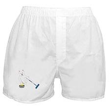 Westie Curling Boxer Shorts