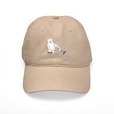 Westie Curling Baseball Cap