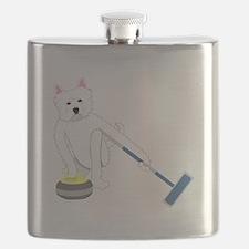 Westie Curling Flask