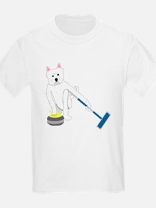 Westie Curling T-Shirt
