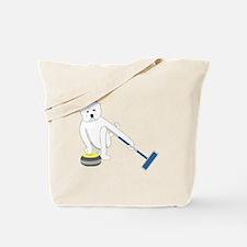 Westie Curling Tote Bag