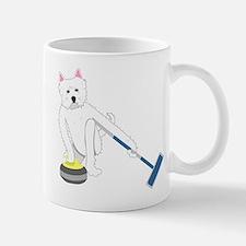 Westie Curling Small Small Mug