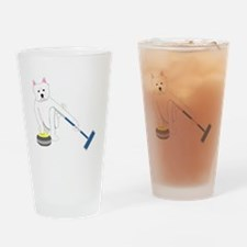 Westie Curling Drinking Glass