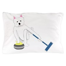 Westie Curling Pillow Case