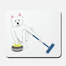 Westie Curling Mousepad