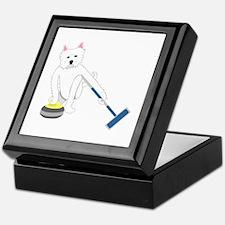 Westie Curling Keepsake Box