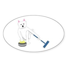 Westie Curling Decal