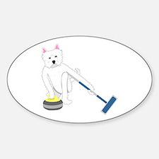 Westie Curling Decal