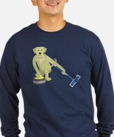 Yellow Lab Curling T