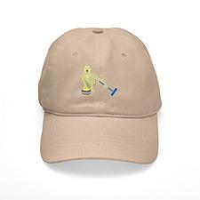 Yellow Lab Curling Baseball Baseball Cap