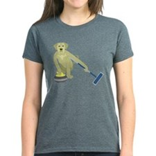 Yellow Lab Curling Tee