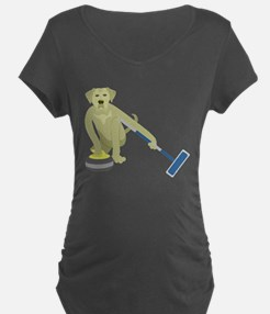 Yellow Lab Curling T-Shirt