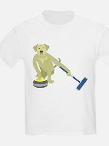 Yellow Lab Curling T-Shirt