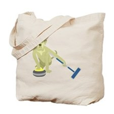 Yellow Lab Curling Tote Bag