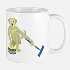 Yellow Lab Curling Mug