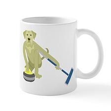 Yellow Lab Curling Small Mug