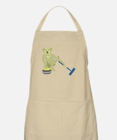 Yellow Lab Curling Apron