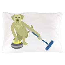 Yellow Lab Curling Pillow Case