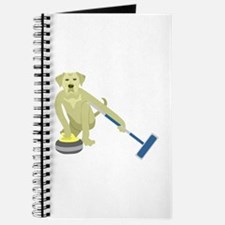 Yellow Lab Curling Journal