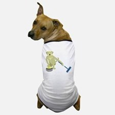 Yellow Lab Curling Dog T-Shirt