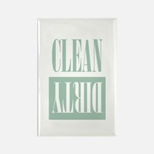 Dishwasher Clean and Dirty Sage Green Magnets