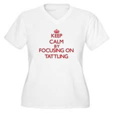 Keep Calm by focusing on Tattlin Plus Size T-Shirt