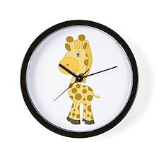 Cute Baby Giraffe Wall Clock