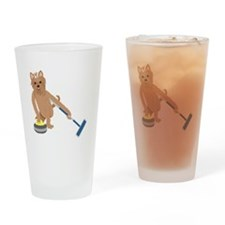 Yorkshire Terrier Curling Drinking Glass