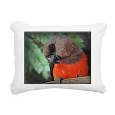 Redbellied Paarrot Rectangular Canvas Pillow