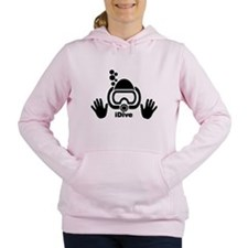 idive wht blk shadow 4da Women's Hooded Sweatshirt