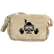 idive wht blk shadow 4dark.png Messenger Bag