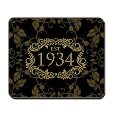 Est 1934 Birth Year Mousepad