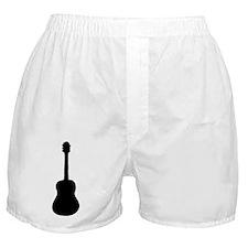 Acoustic Guitar Silhouette Boxer Shorts