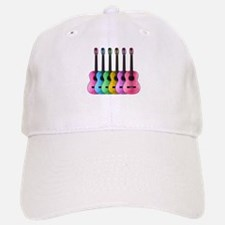 Colorful Guitars Baseball Cap